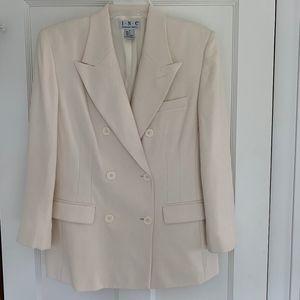 Vintage Silk Cream Blazer Size 10
